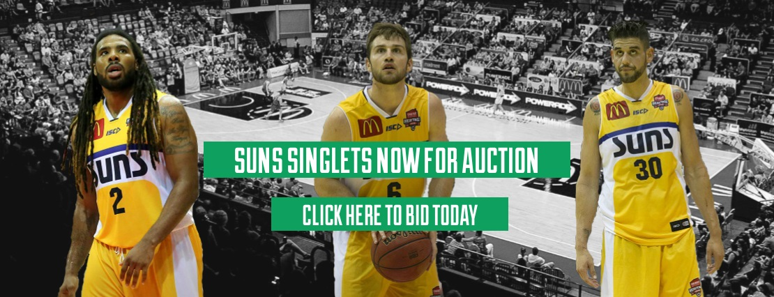 Townsville Suns Auction Singlets